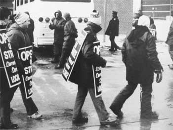 OPSEU on strike