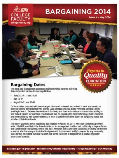 College Faculty Bargaining Bulletin 2014.
