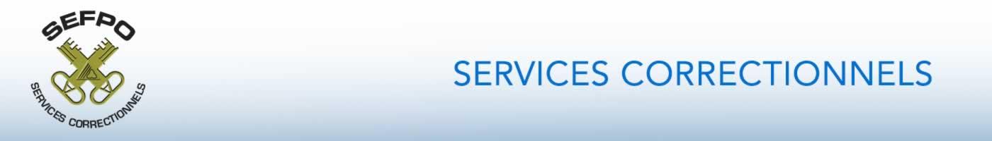 SEFPO Services Correctionnels bannière