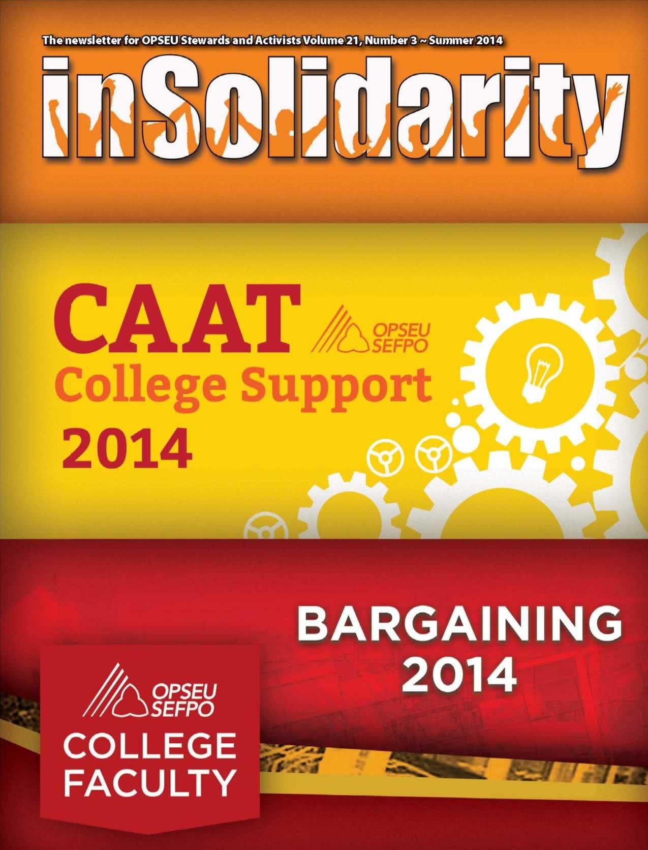 In Solidarity. CAAT College Support 2014. Bargaining 2014