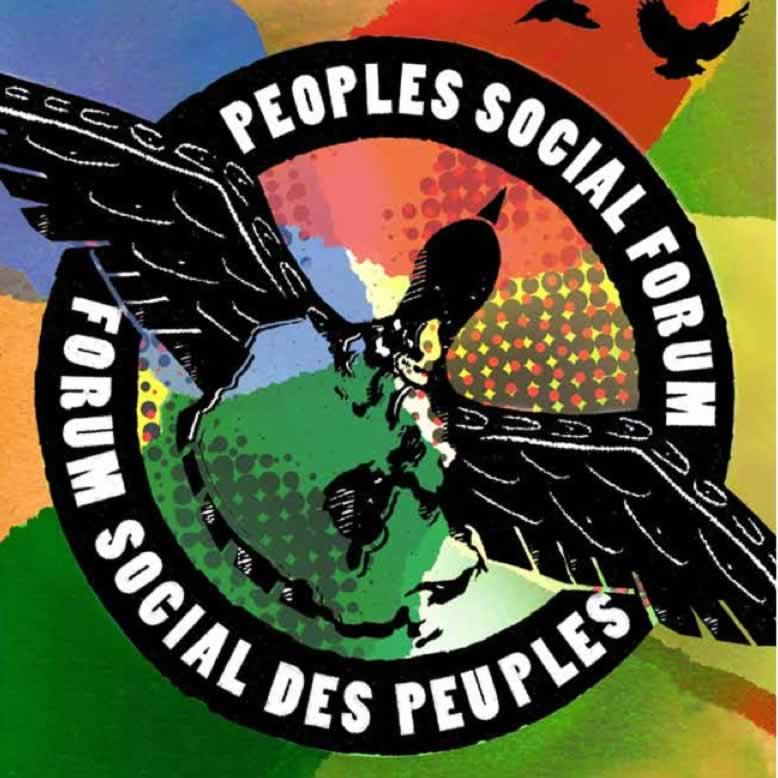 Peoples Social Forum. Forum Social Des Peuples Logo