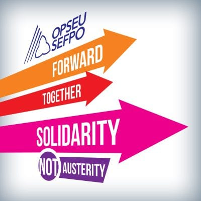 Region 5 Labour Day. Forward, together, solidarity, NOT austerity