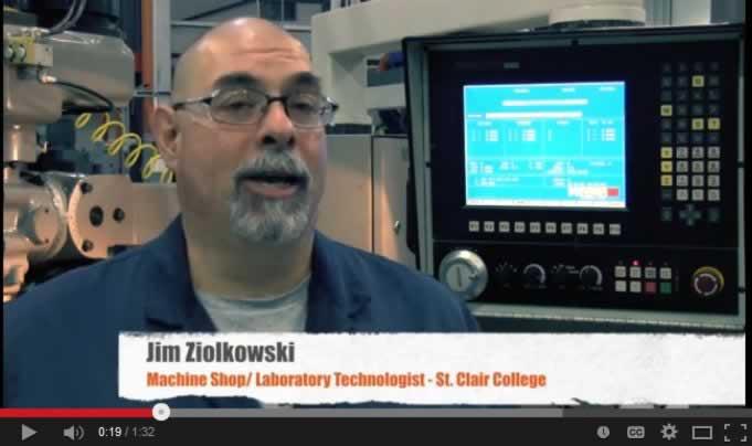 Jim Ziolkowski, a machine shop/laboratory technologist at St. Clair's College