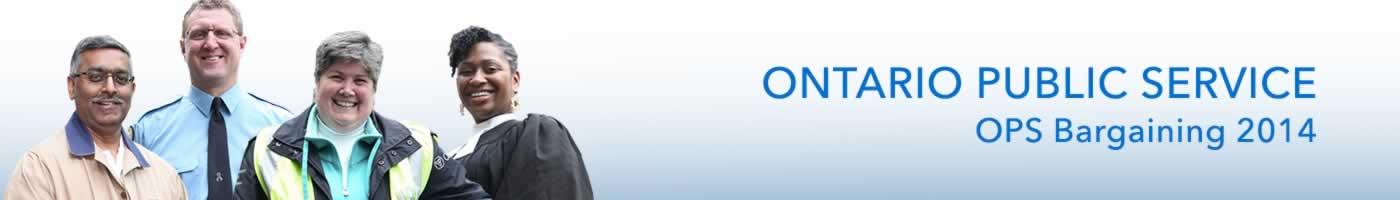 Ontario Public Service banner. OPS bargaining 2014