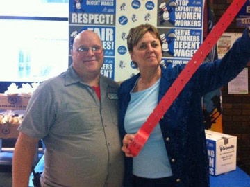 Two OPSEU members with tickets