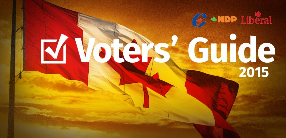 Voters' Guide 2015. PC, NDP and Liberal platforms