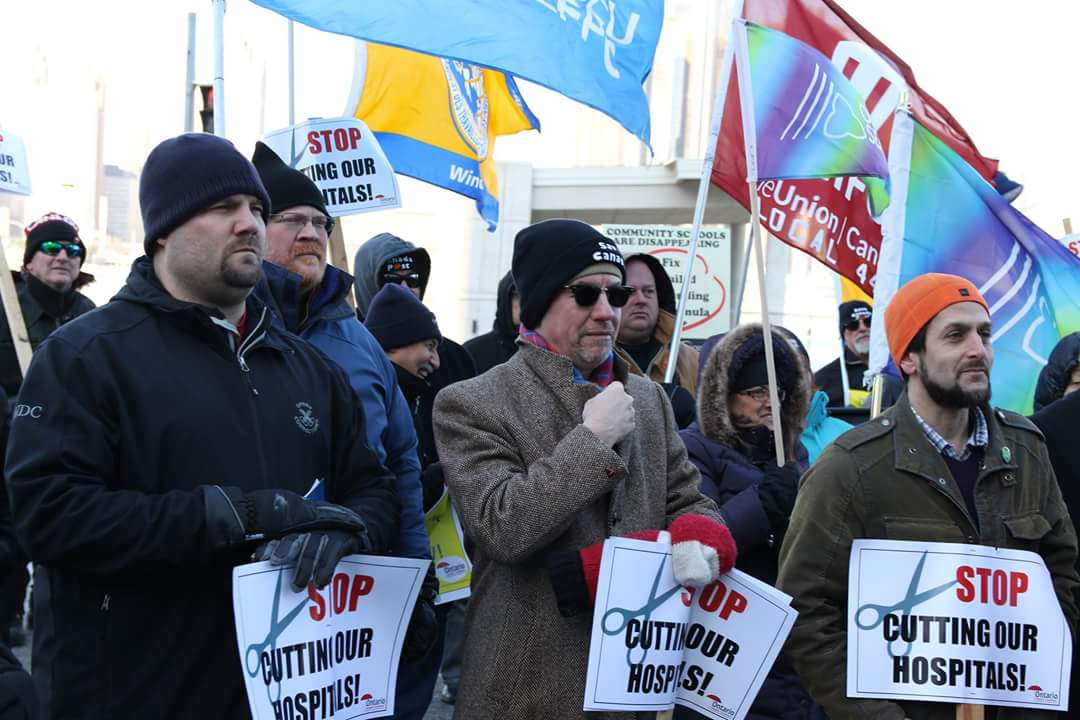 A group of OPSEU members