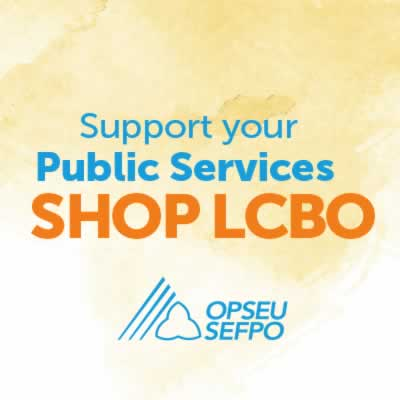 Support your public services, shop LCBO.