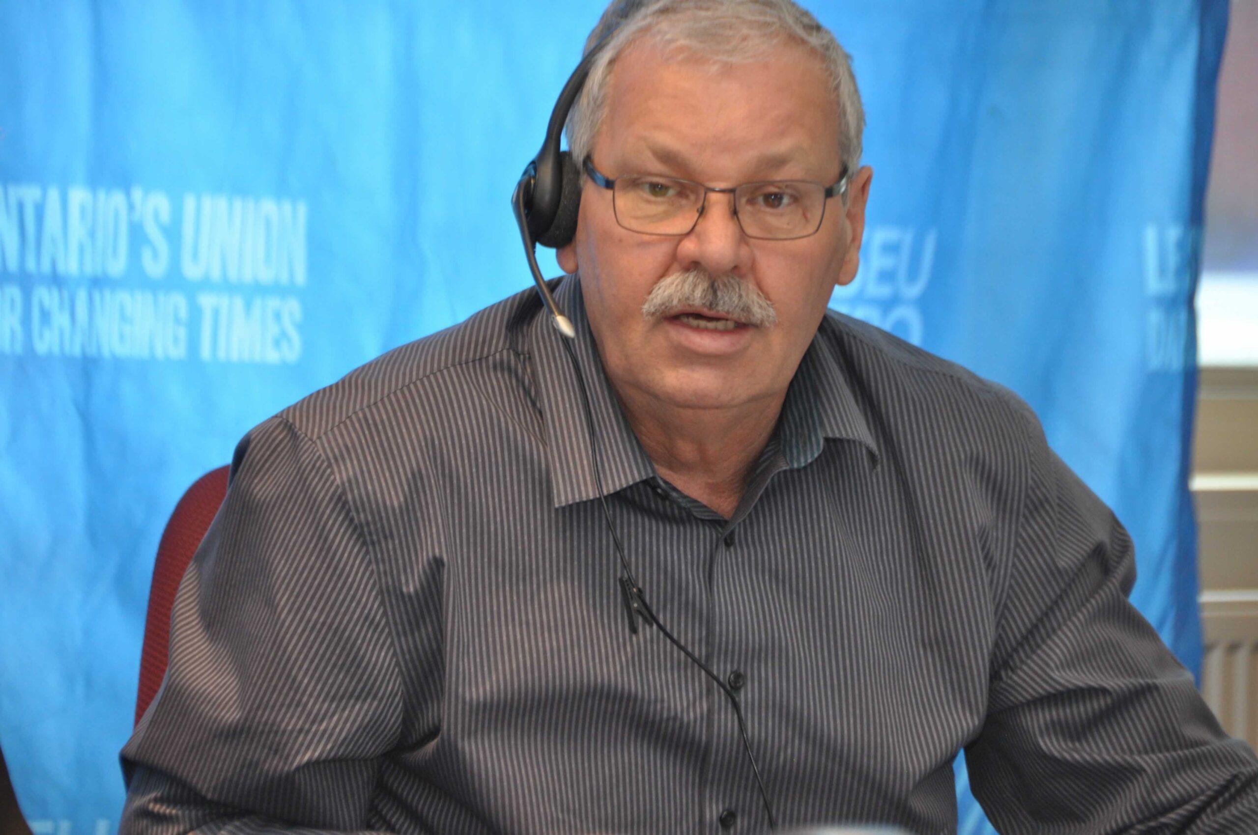 OPSEU president Warren Thomas