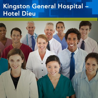 Kingston General Hospital - Hotel Dieu. Group of smiling faces