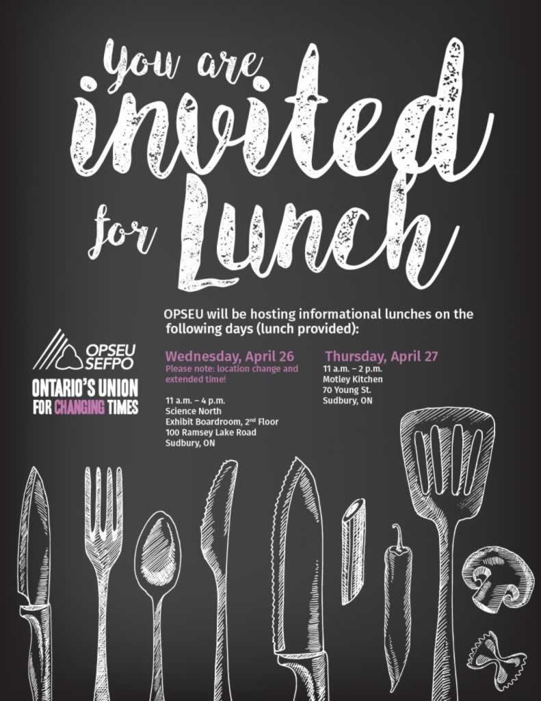 Lunch invitation flyer