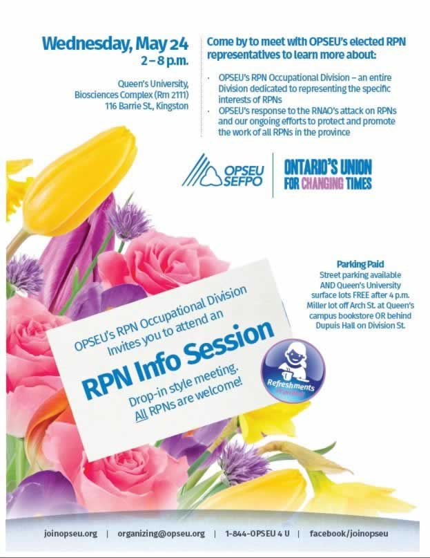 RPN Info Session, drop-in meeting where all RPNs are welcome. May 24th