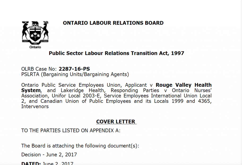 Public Sector Labour Relations Transition Act, 1997