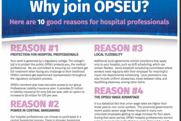 Why join OPSEU? poster