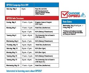 Upcoming Info Sessions & Events flyer.