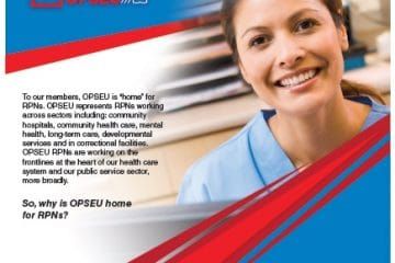 OPSEU: the union of choice for registered practical nuuses. Choose OPSEU poster.