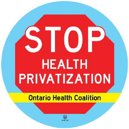 Stop Health Privatization - Ontario Health Coalition logo