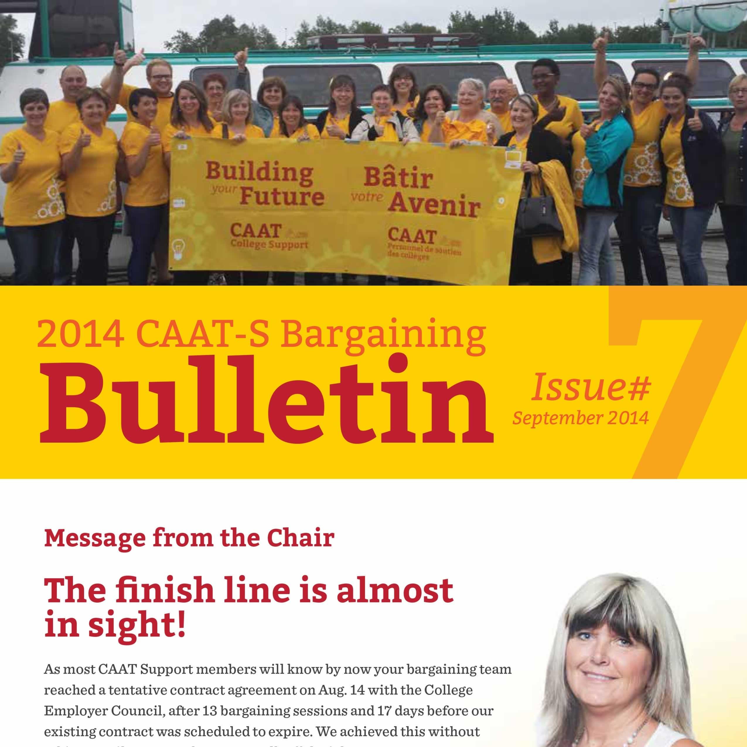 2014 CAAT-S Bargaining Bulletin Issue 7