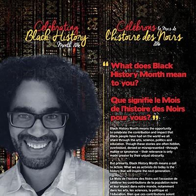 Celebrating Black History Month 2016 poster