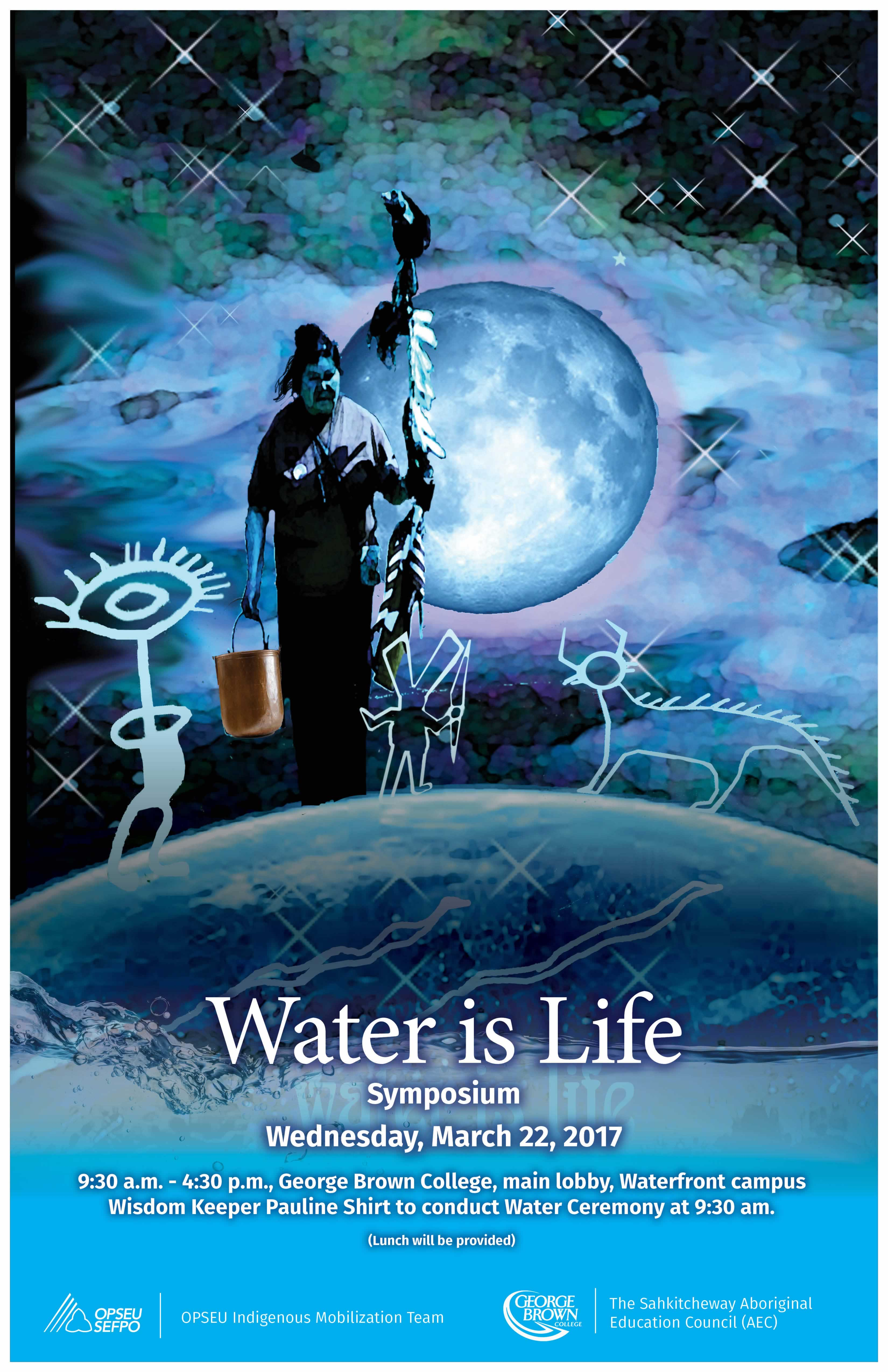 Poster created by Tannis Nielsen, Cree artist