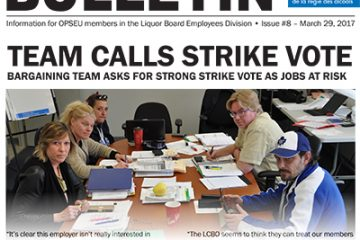 LBED Bargaining Bulletin 8, March 29, 2017