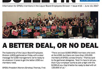2017 LBED Bargaining Bulletin Issue 16, June 13, 2017