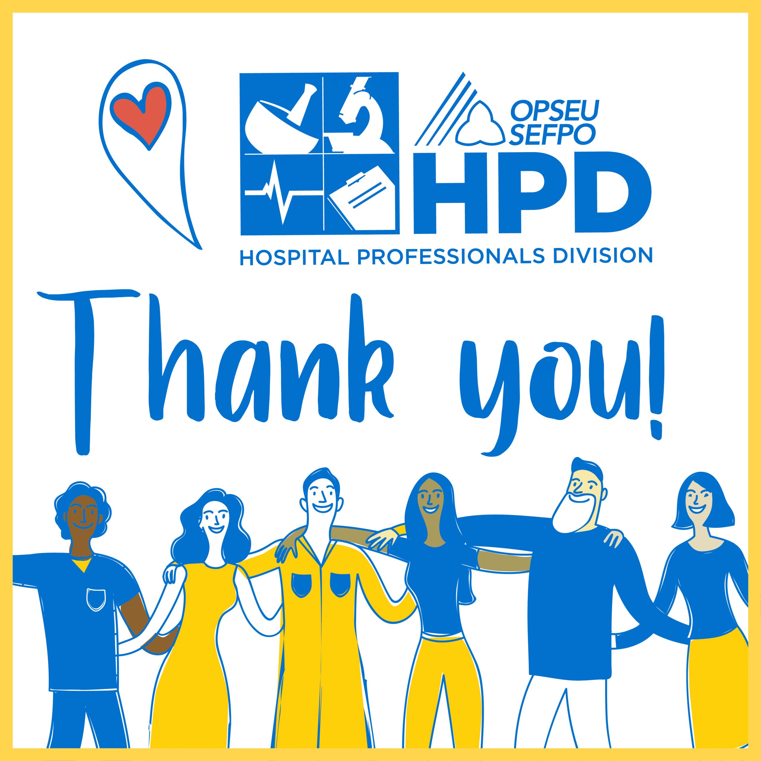 Thank you! OPSEU Hospital Professionals Division