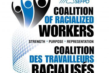 OPSEU Coalition of Racialized Workers logo - SEFPO Coalition des travailleurs racialises logo