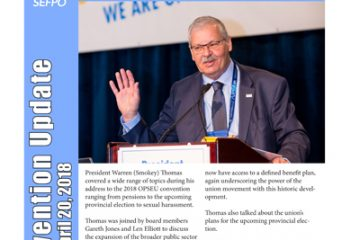 OPSEU Convention 2018 Update Day 2