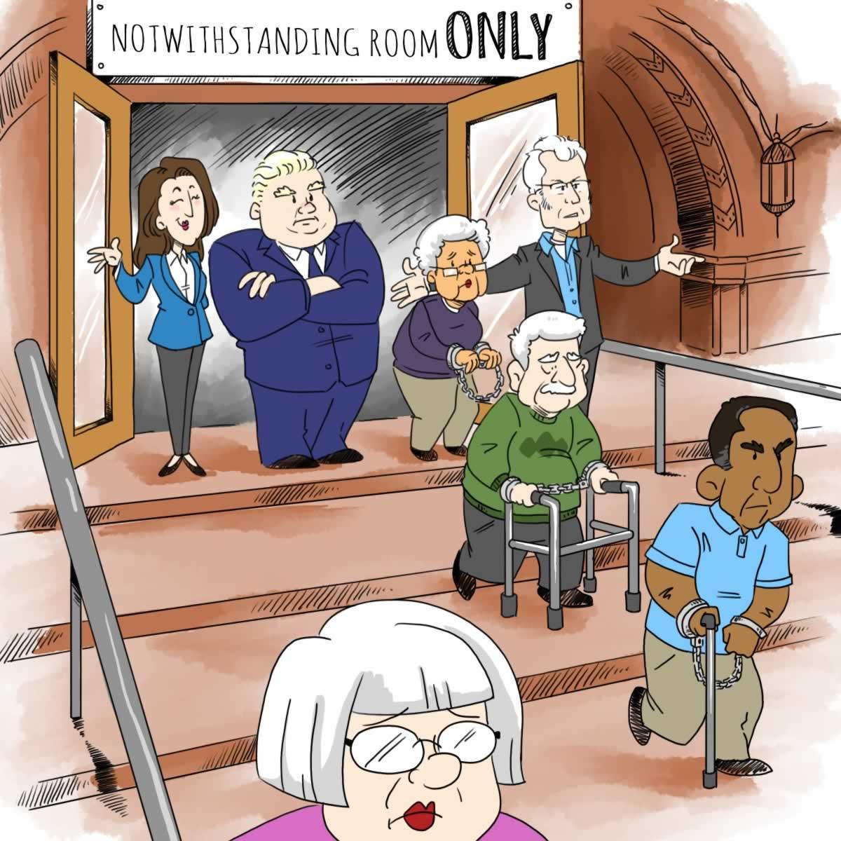Notwithstanding room only cartoon