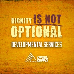 Dignity is not optional - OPSEU Developmental Services logo