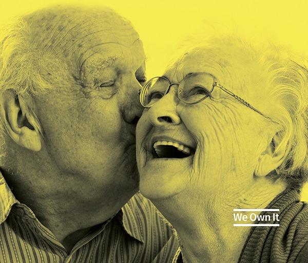 We Own It. Image of two older people