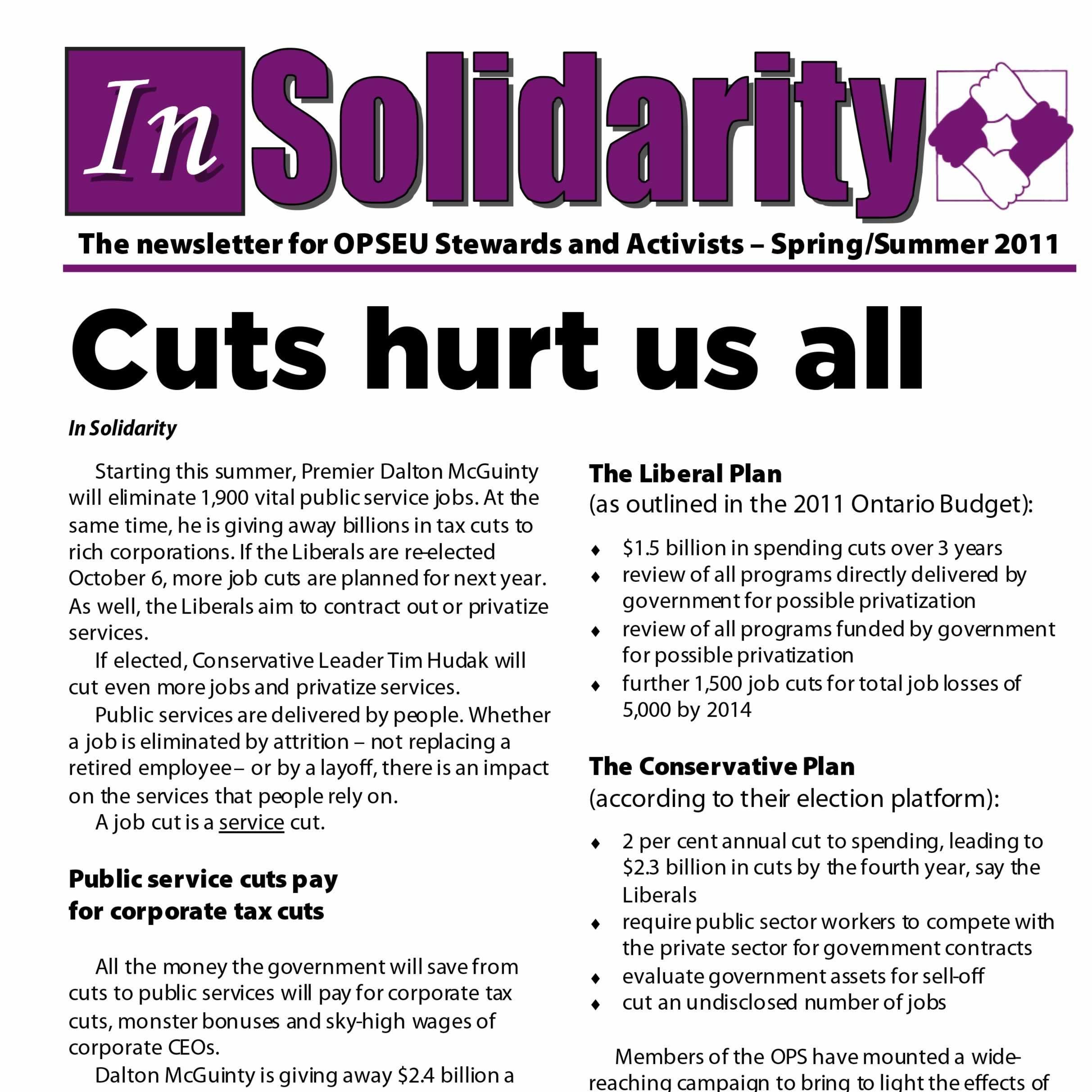In Solidarity Spring/Summer 2011