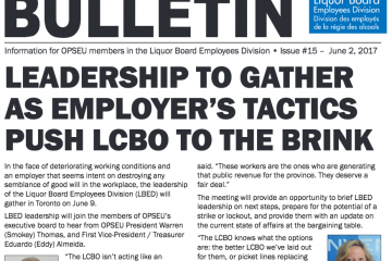 LBED Bargaining Bullein 15: June 2, 2017 front cover