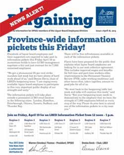 LBED Bargaining Bulletin, News Alert 2