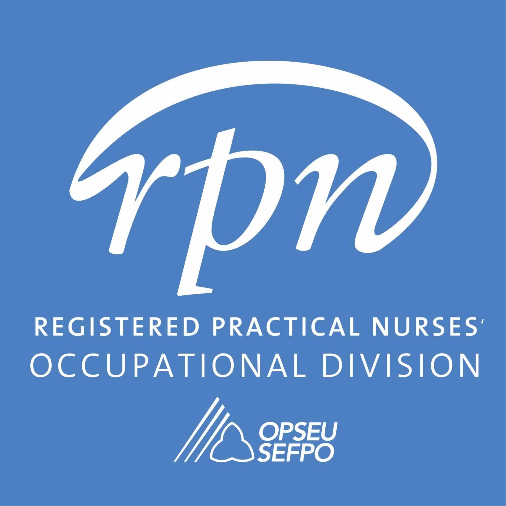 Registered Practical Nurses Occupational Division OPSEU SEFPO