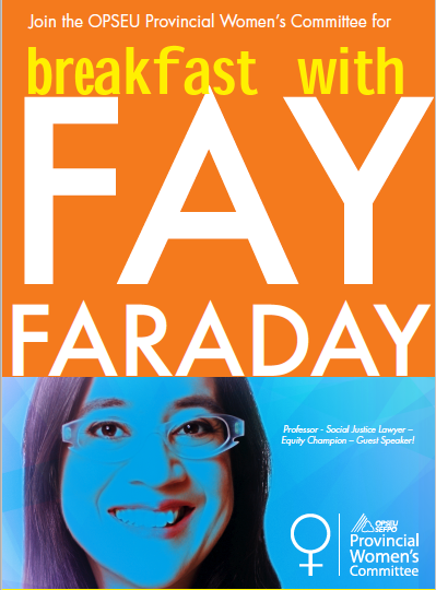 OPSEU Provincial Women's Committee, Breakfast with Fay Faraday