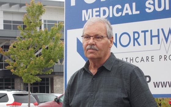 OPSEU President Warren (Smokey) Thomas in Owen Sound.