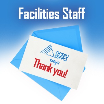 Facilities Staff OPSEU says Thank you