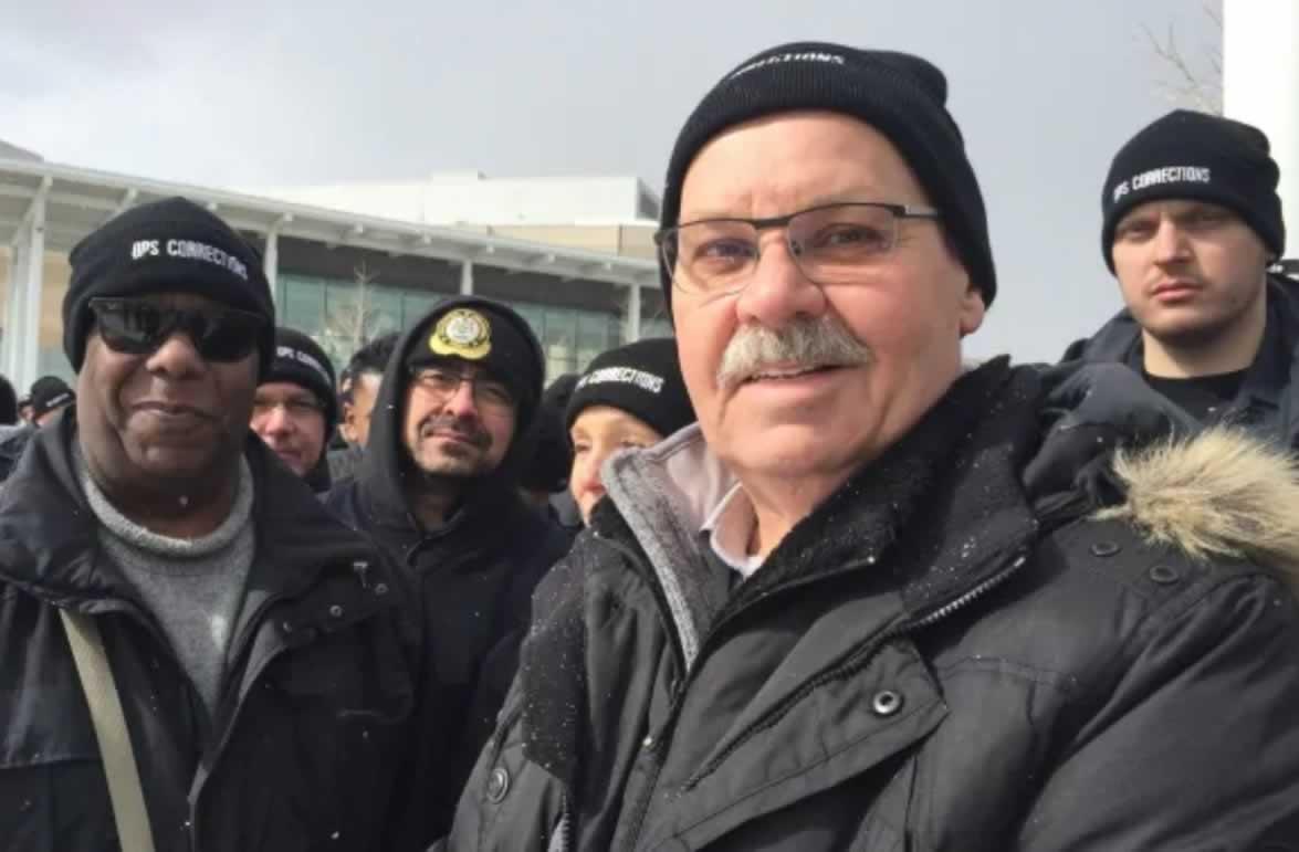 OPSEU President Warren (Smokey) Thomas at Toronto South Detention Centre