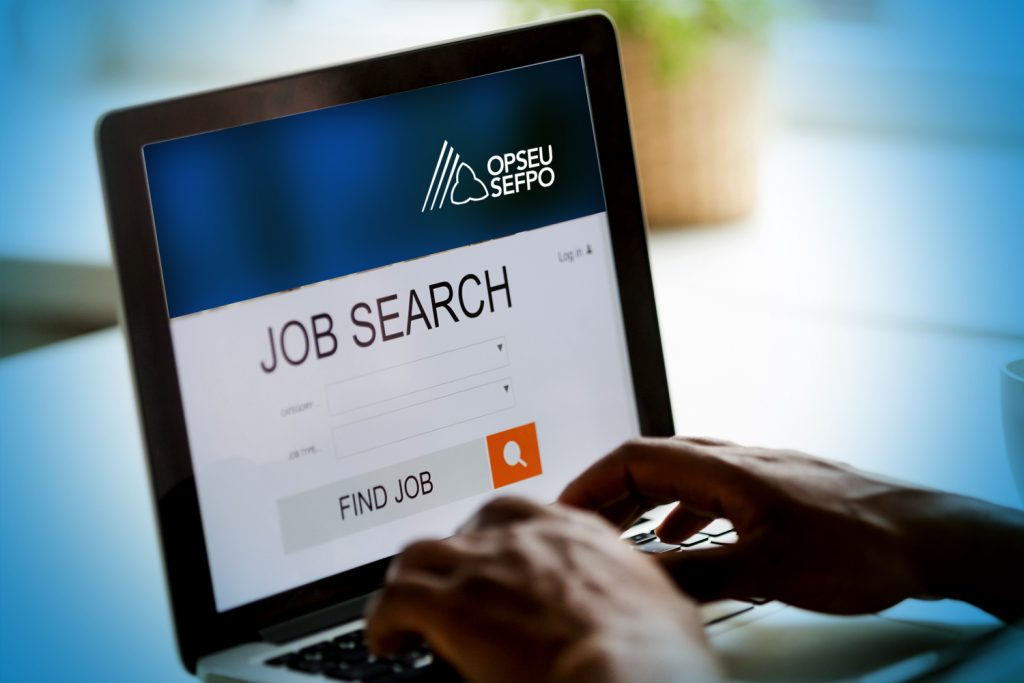 Searching OPSEU website for job openings