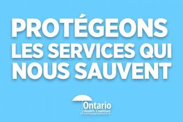 Protegeons les services qui nous sauvent