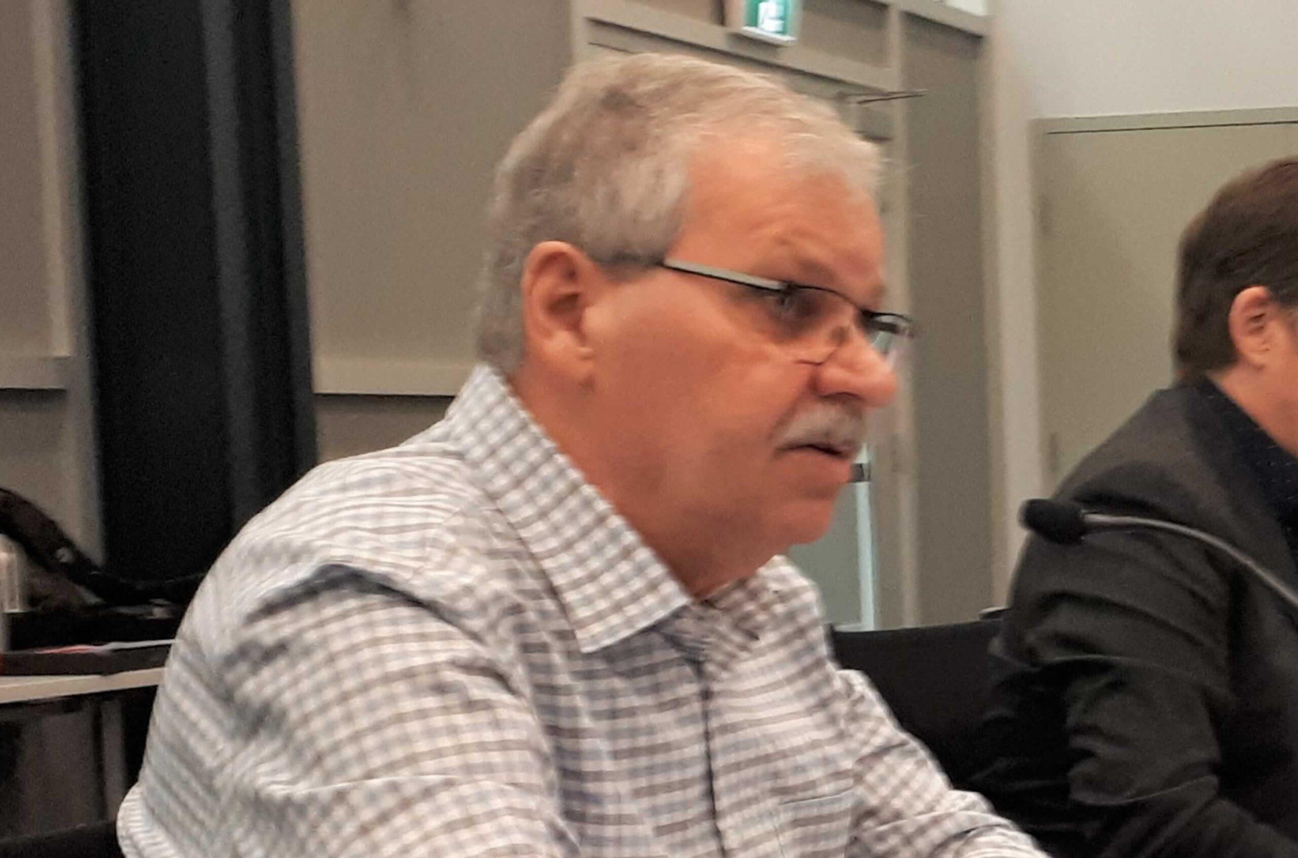 Warren Smokey Thomas at telephone town hall