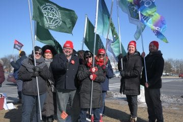 ERFP: group standing in solidarity with education workers