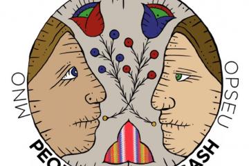 The Metis logo: people of the sash.