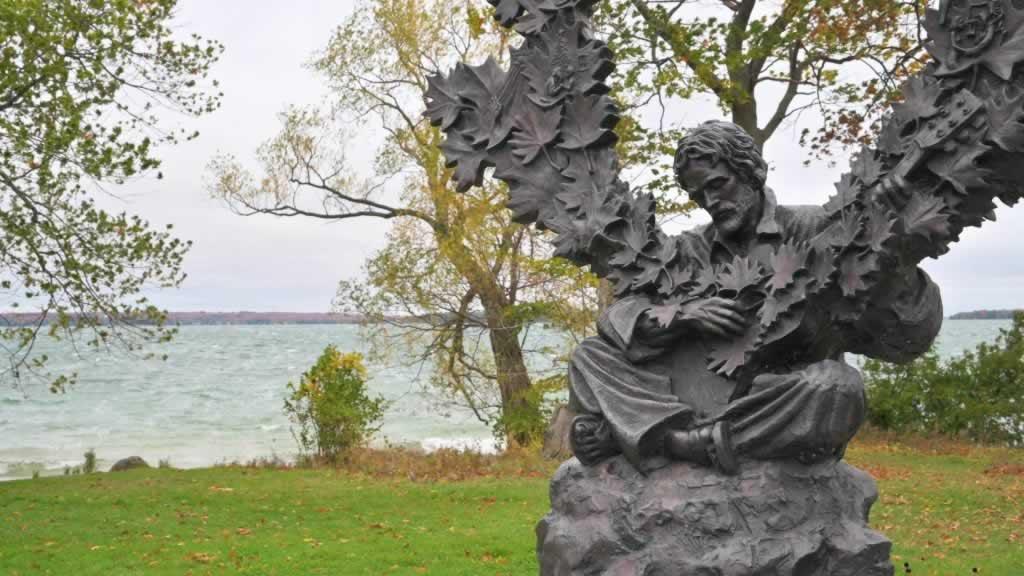 Statue in Orillia