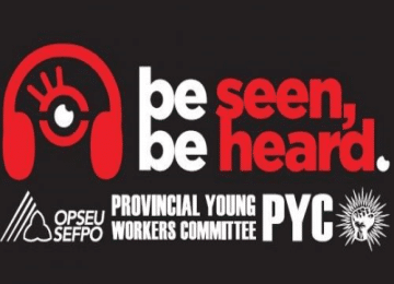 Provincial Young Workers Committee (PYC). Be seen, be heard