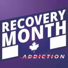 Recovery Month, Addiction crossed out