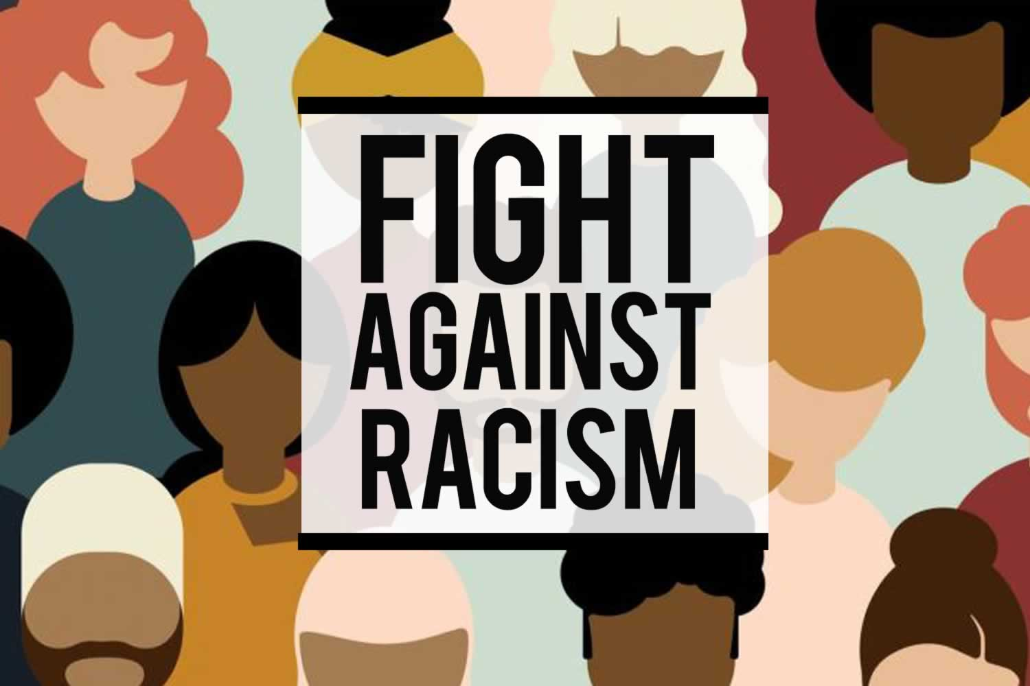 Fight Against Racism. Illustration of a diverse group of people