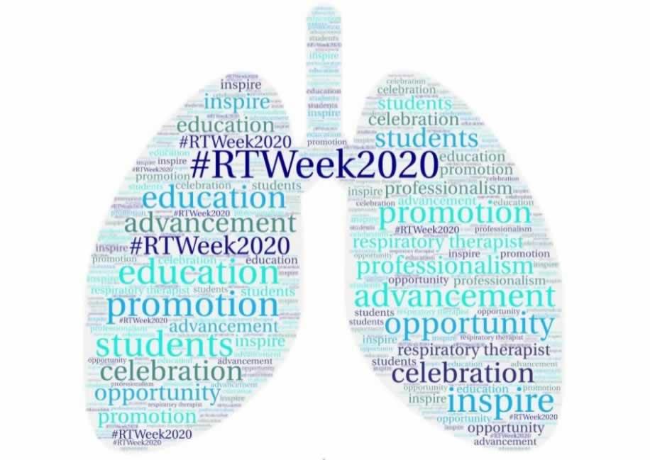 #RTWeek2020 words in the shape of lungs